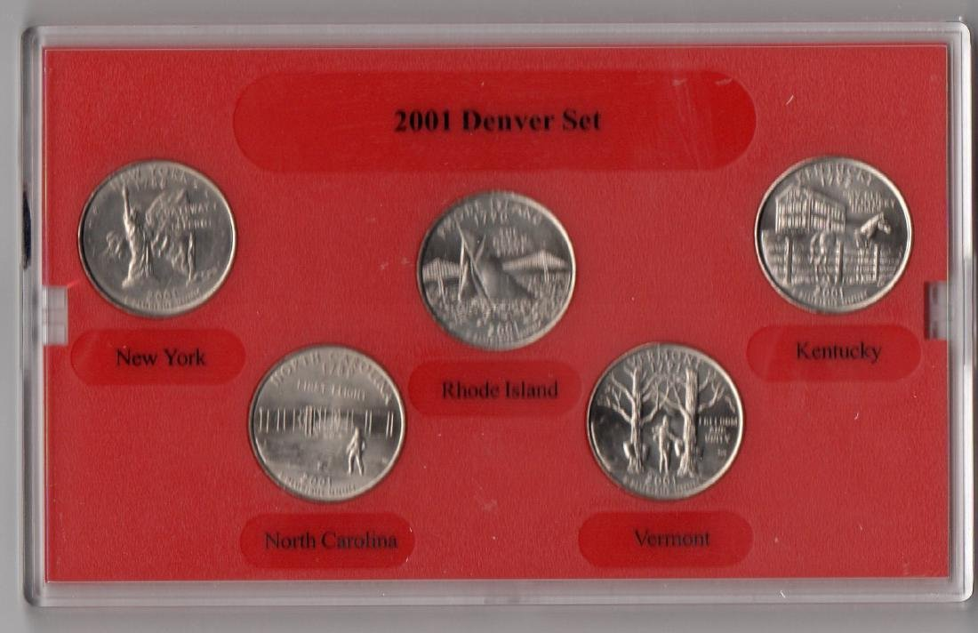 2001 Denver Mint Quarters