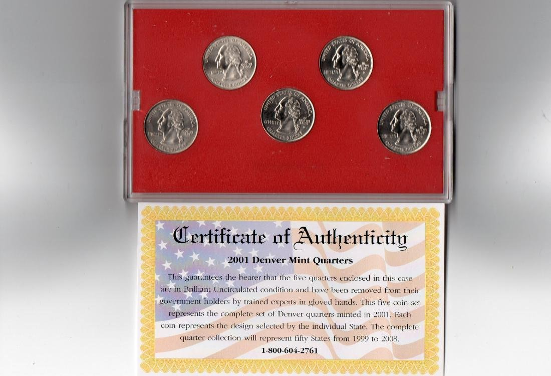 2001 Denver Mint Quarters - 3