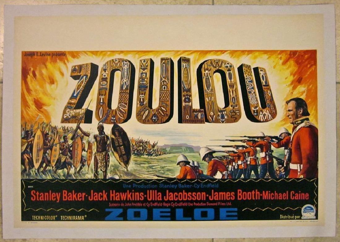 Zulu Original 1964 Belgian Lb Poster