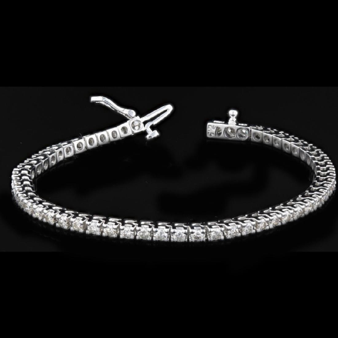 14k White Gold 3.57ctw Diamond Tennis Bracelet