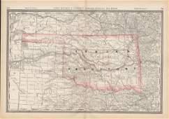 Rand McNally: Map of Indian Territory, 1882
