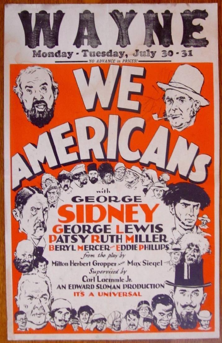 We Americans Original 1928 Window Card Poster