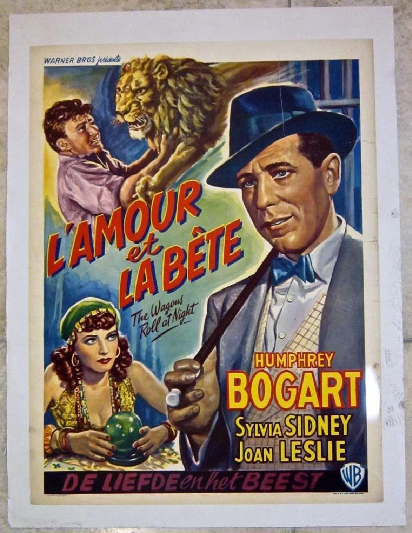 The Wagons Roll at Night 1941 Lb Belgian Poster
