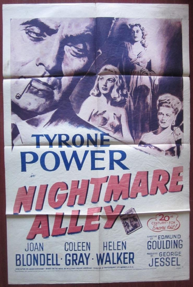 Nightmare Alley Vintage R55 One Sheet Poster