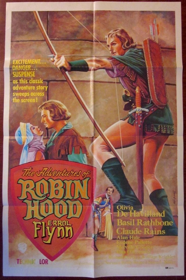 The Adventures of Robin Hood Vintage R70's Poster