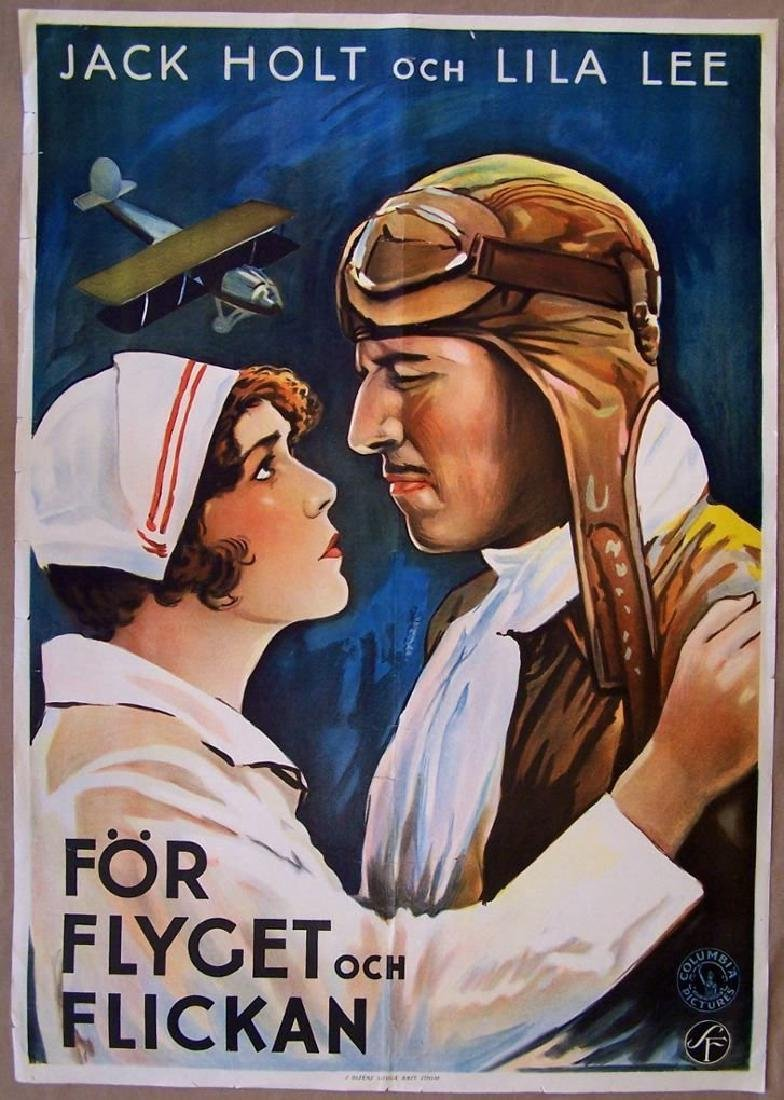 Original 1929 Flight Swedish Poster