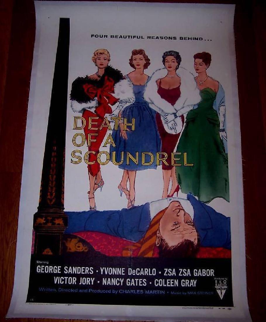 Death of a Scoundrel '56 Lb 1 Sh Poster