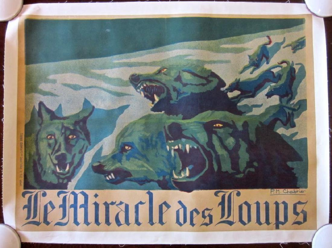 Miracle of the Wolves 1924 French Lb Poster