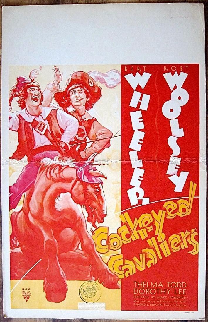Cockeyed Cavaliers Original 1934 Window Card Poster