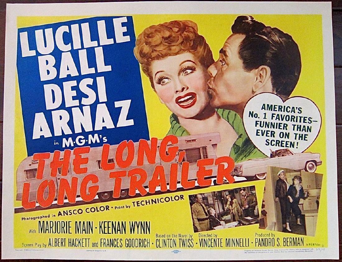 Long, Long Trailer 1954 Pb 1/2 Sheet Poster