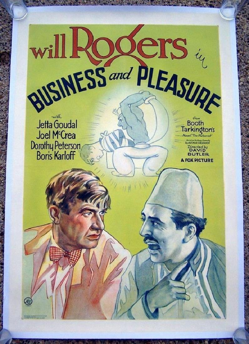 Business & Pleasure 1931 Will Rogers Poster