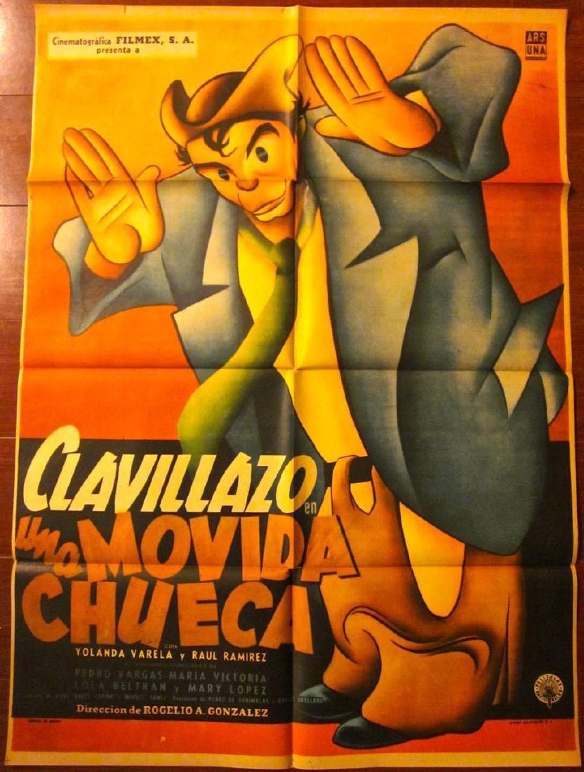 Una Movida Chueca Original 1956 Mexican Poster