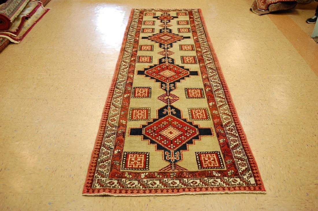 "Antique Persian Heriz Serapi Wool Runner Rug 2'2""x7'"