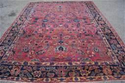 Antique Persian Sarouk Mohajeran Wool Rug 9'x12'