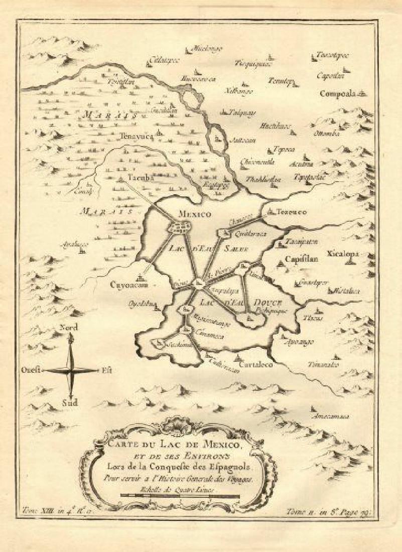Bellin: Map of Mexico City & Lake Texcoco, 1758