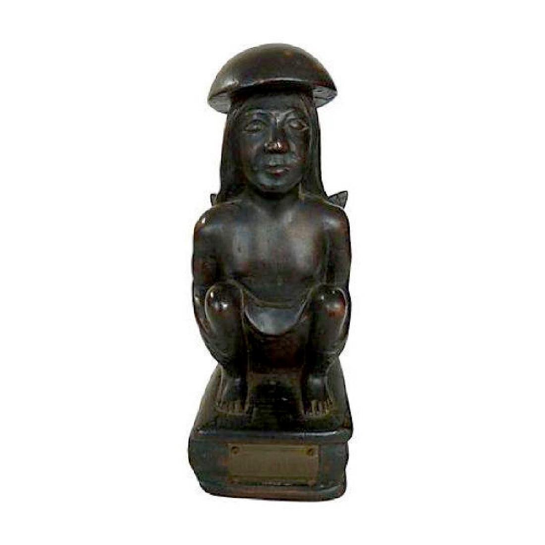 Carved Ebony African Statuette of Female