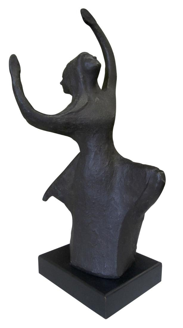 Rotating Sculpture of Dancer with Two Faces