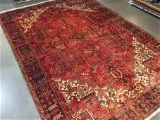 """Authentic Hand Knotted Wool Heriz Rug 9'6""""x13'4"""""""