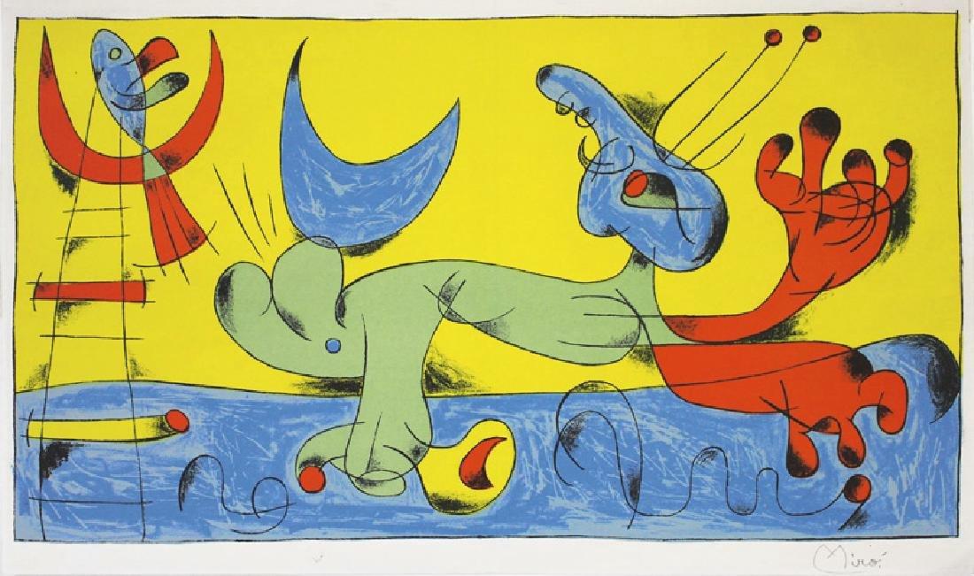 Joan Miro: Animaux - Composition 7 par Jacques Prevert