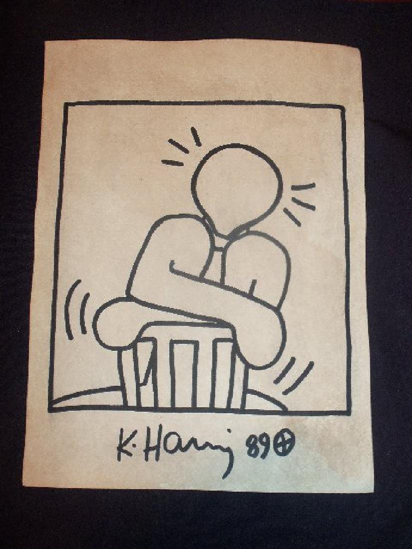 Keith Haring: Man On Chair