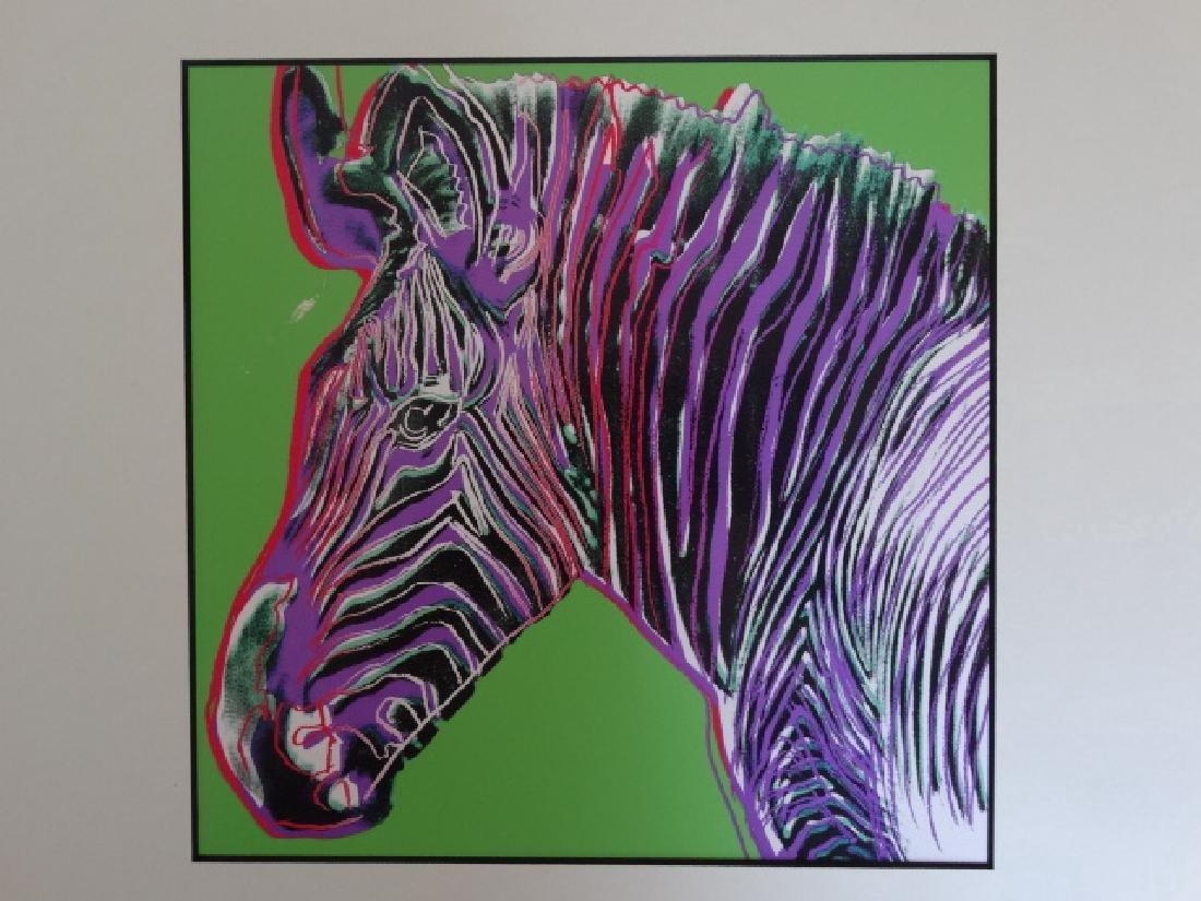 Andy Warhol: Zebra