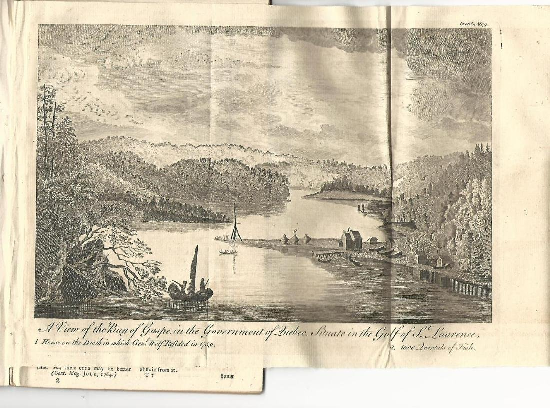 1764 Magazine w/ Engraving View of Bay of Gaspee Quebec