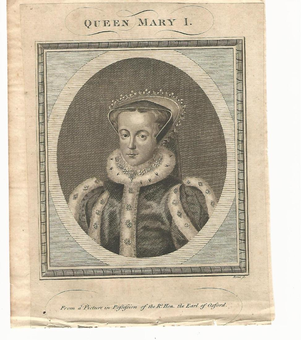 1785 Mary I; Philip II of Spain; & Henry Lord Darnby