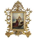 Continental Porcelain Framed Plaque, Early 20th C