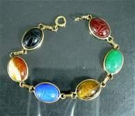 Vintage Gold Filled Scarab Bracelet