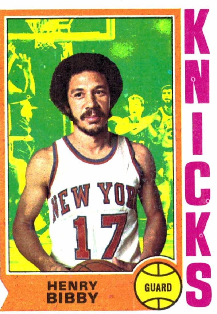 1974 Topps Henry Bibby New York Knicks