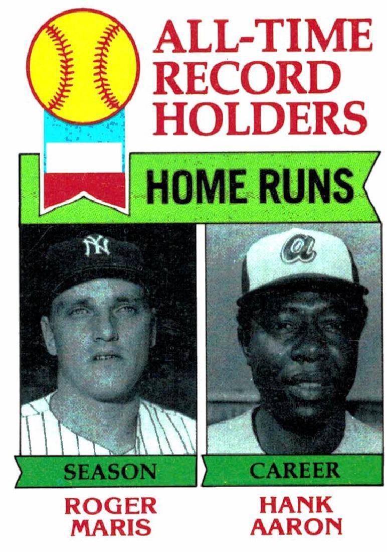 1979 Topps Roger Maris/Hank Aaron HR New York Yankees