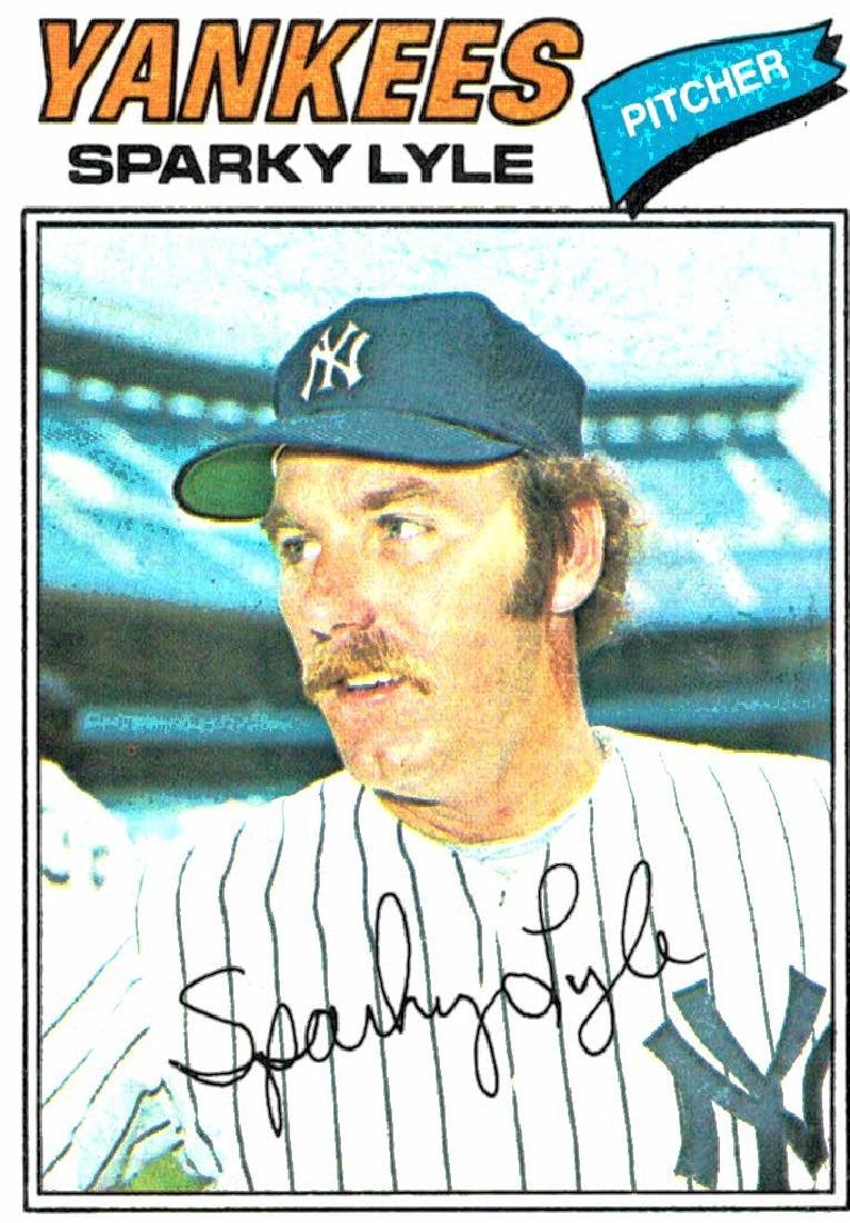1977 Topps Sparky Lyle New York Yankees
