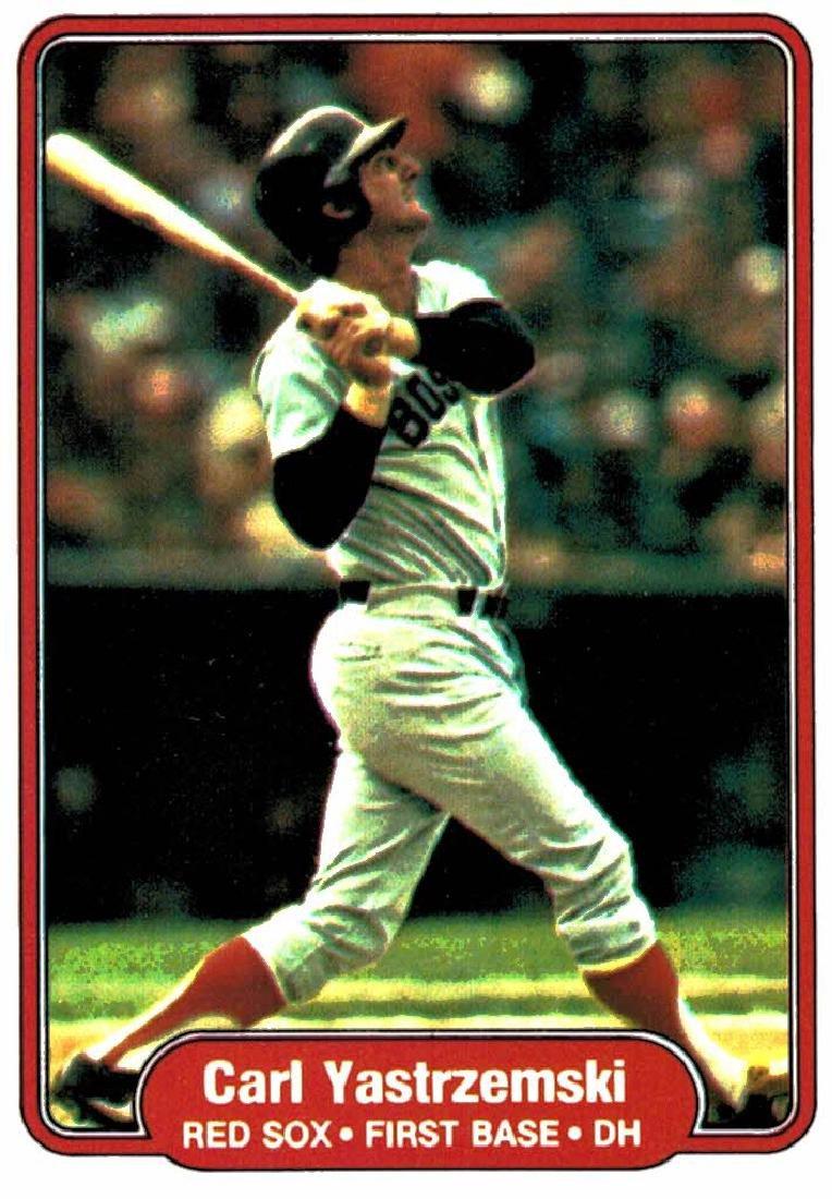 1982 Fleer Carl Yastrzemski Boston Red Soxs