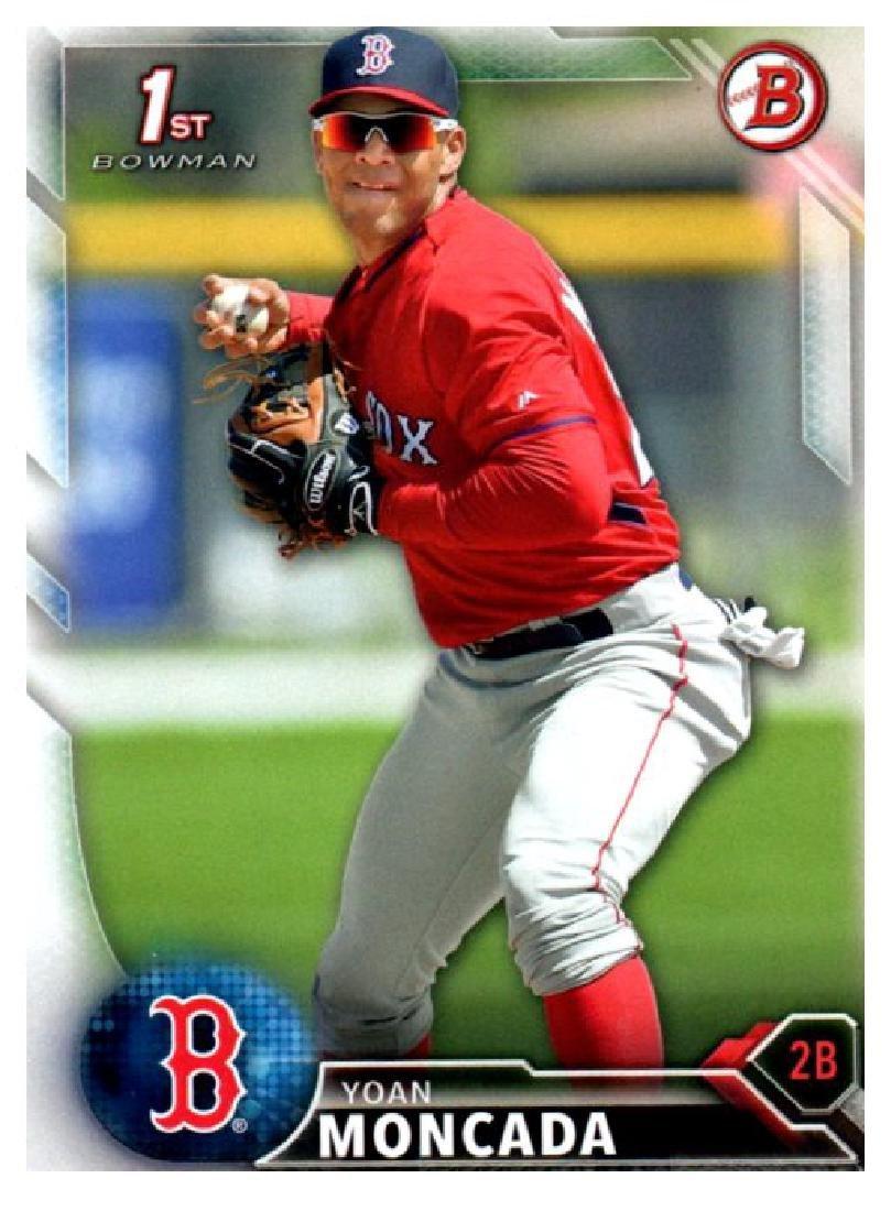 2016 Bowman Yoan Moncada Rookie Card Boston Red Soxs