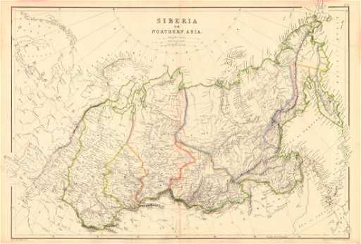 Asia Map Siberia.Weller Map Of Siberia Or Northern Asia 1860