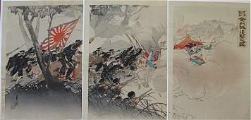 Ogata Gekko SinoJapanese War triptych