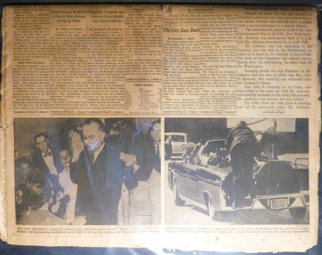 NY Times- Nov.23rd, 1963 - John F Kennedy Assissination - 2