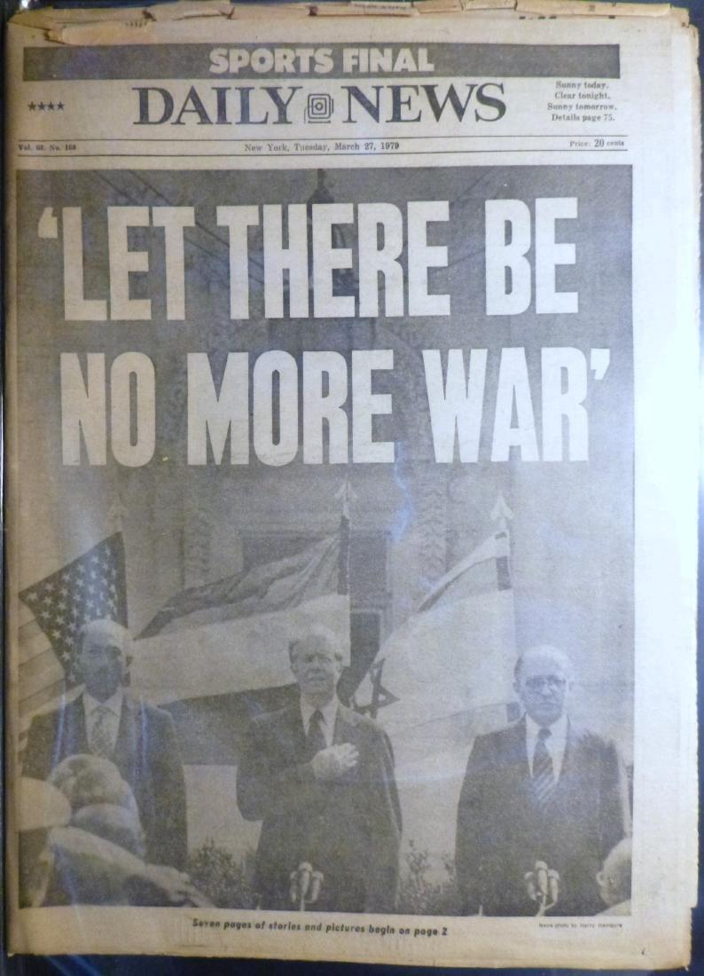 NY Daily News - Israel, Egypt Peace Treaty - March 1979