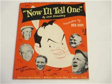 Now Ill Tell One Joke Book Intro by Bob Hope 1951