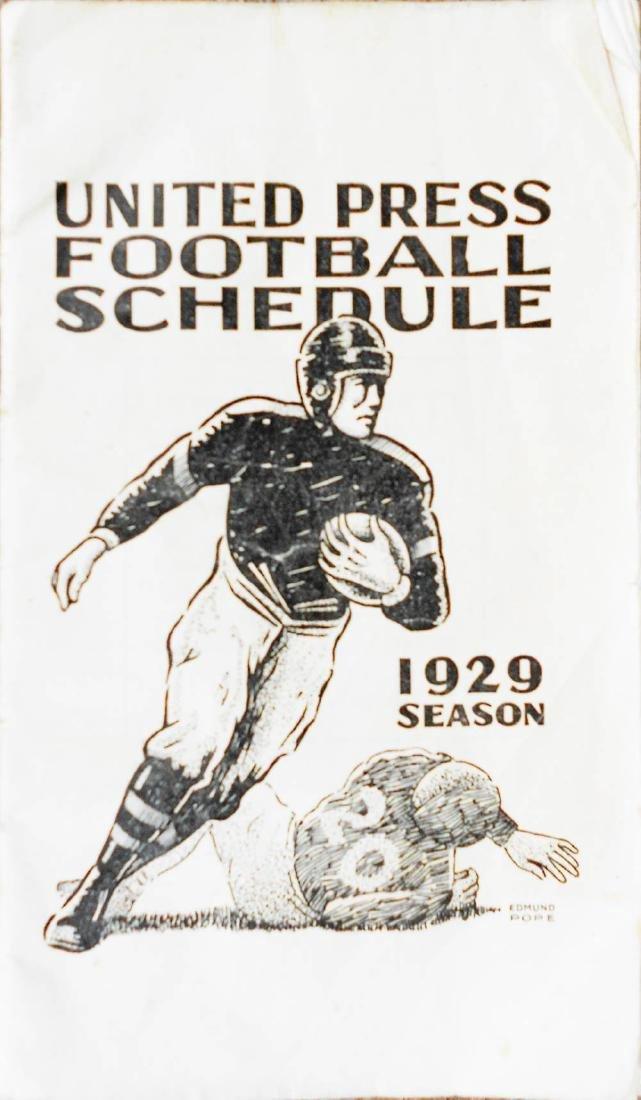 United Press Football Schedule Season, 1929