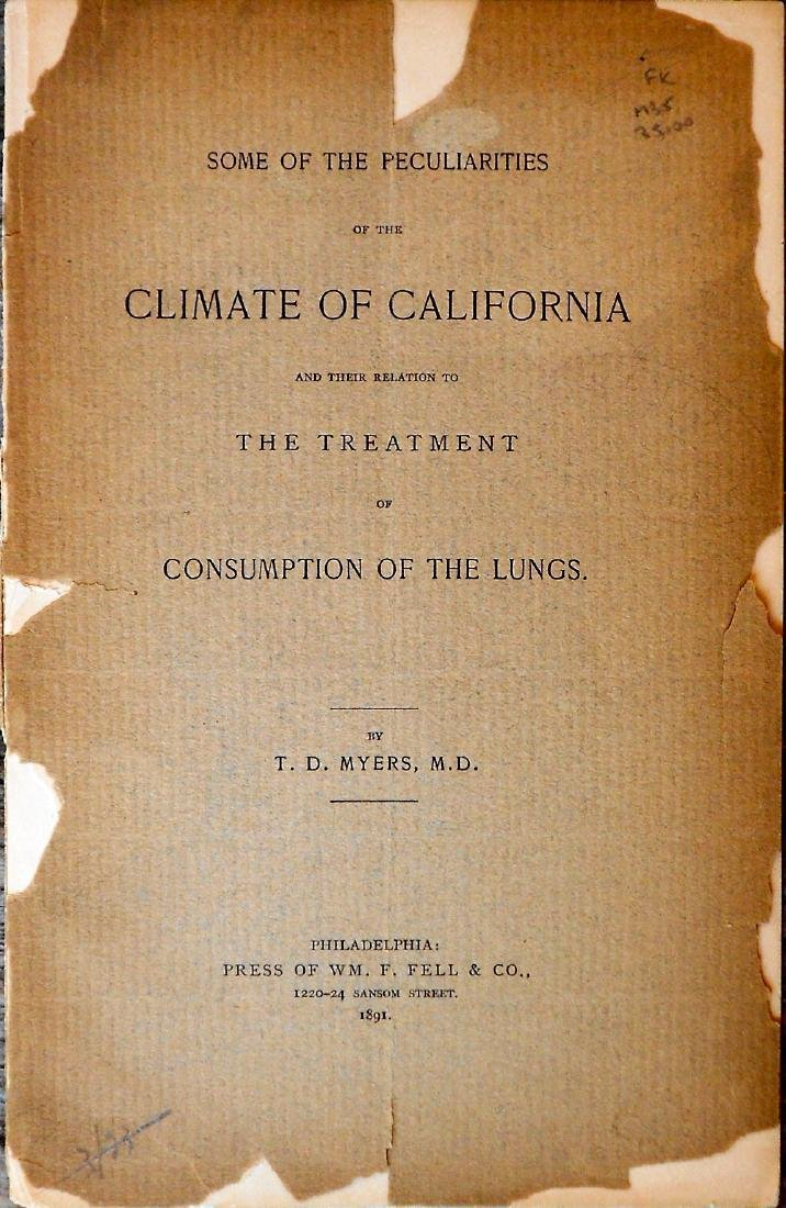 MYERS, T. D. Some Peculiarities of California Climate