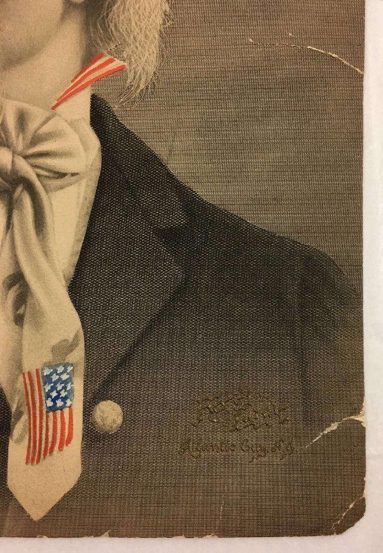 Antique 19thc Uncle Sam American Flag Ad - 2