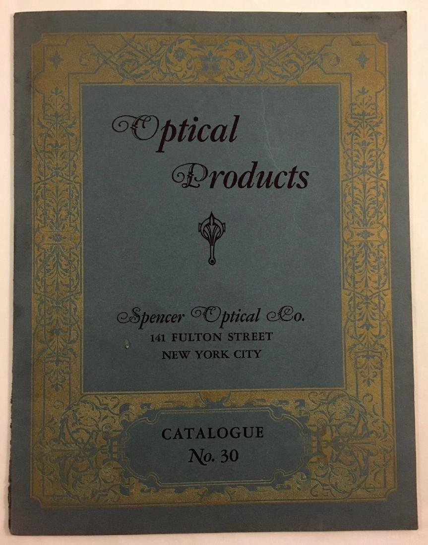 Antique Vintage Spencer Optical Illustrated Catalog - 2
