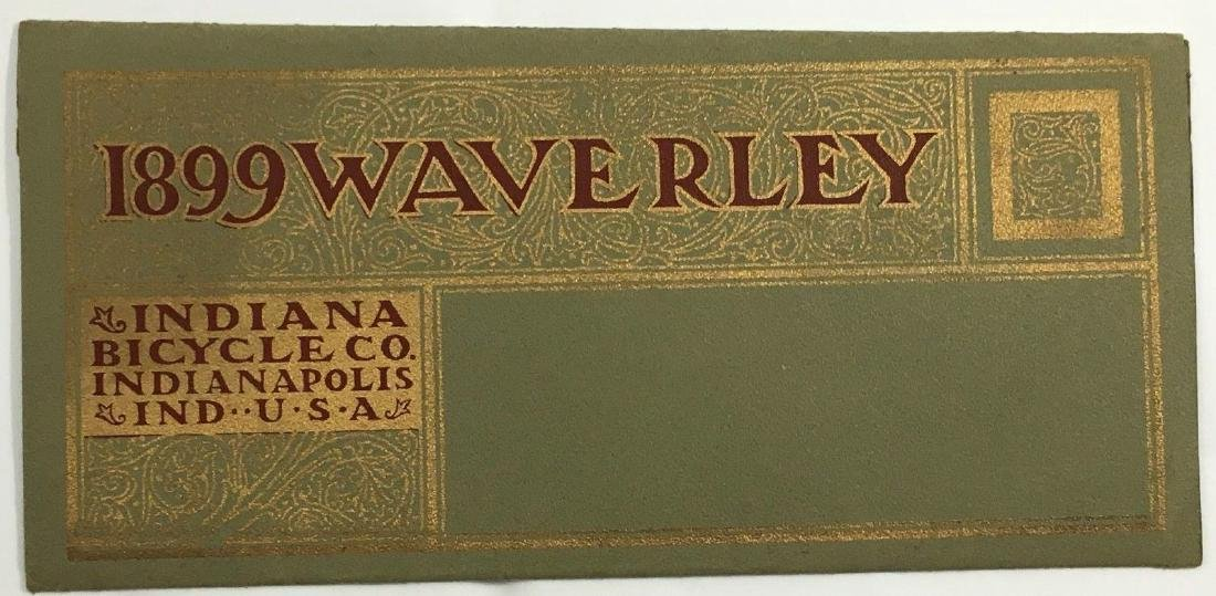 Antique 1899 Waverley Indiana Bicycle Company Catalog - 2