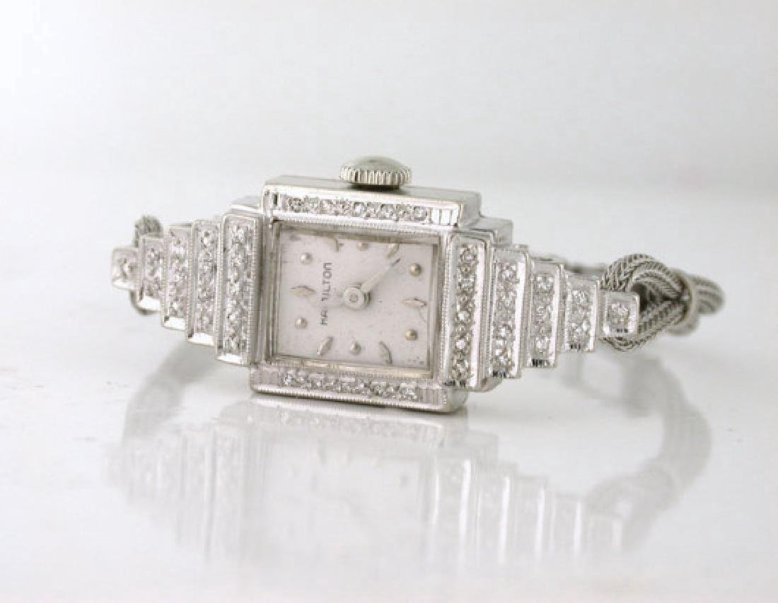 Art Deco Style Hamilton Diamond Ladies Watch