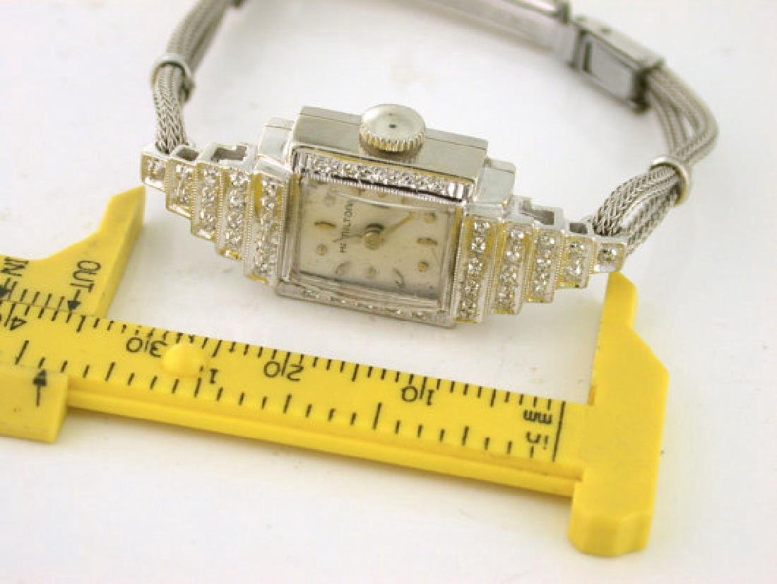 Art Deco Style Hamilton Diamond Ladies Watch - 3