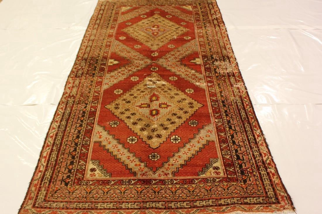 """Antique Handmade Caucasion Rug 4'2"""" x 9'2"""""""