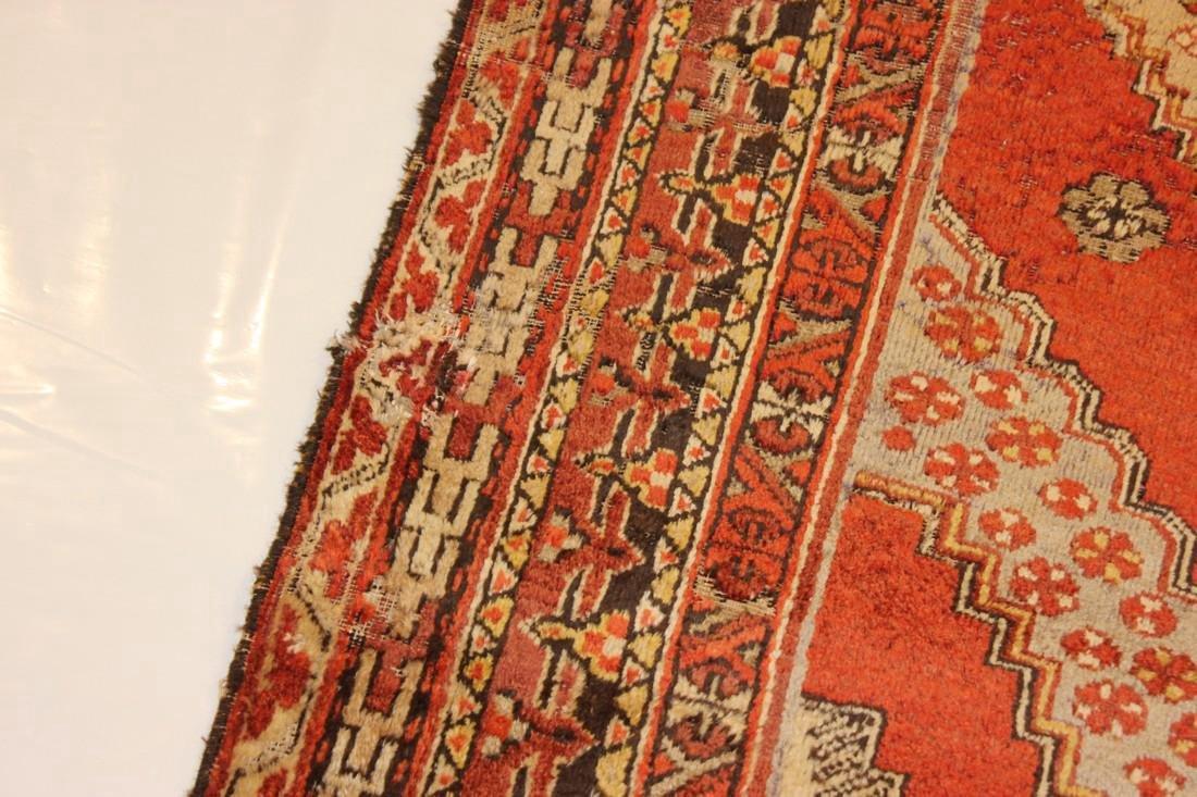 """Antique Handmade Caucasion Rug 4'2"""" x 9'2"""" - 4"""