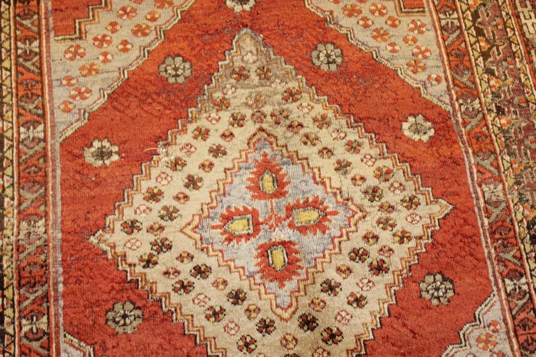 """Antique Handmade Caucasion Rug 4'2"""" x 9'2"""" - 5"""