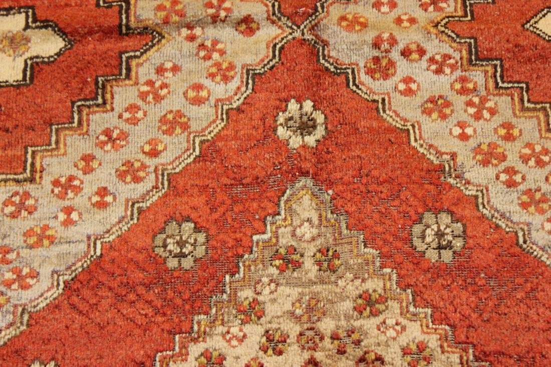 """Antique Handmade Caucasion Rug 4'2"""" x 9'2"""" - 6"""